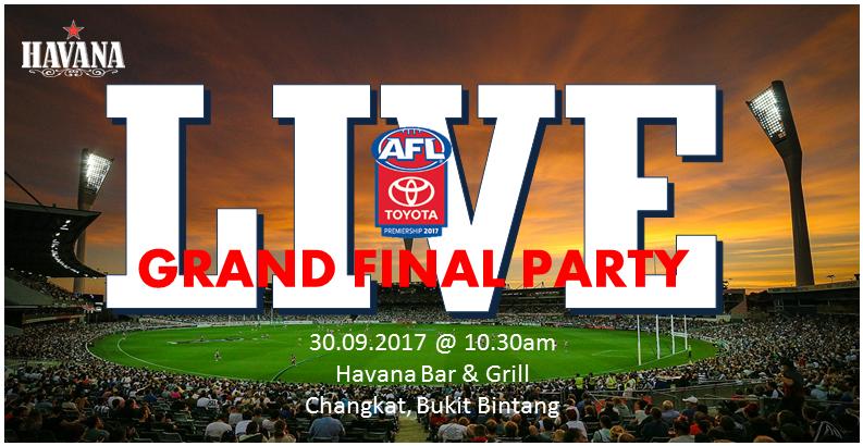 AFL Grand Finals FB Events 30Sept17
